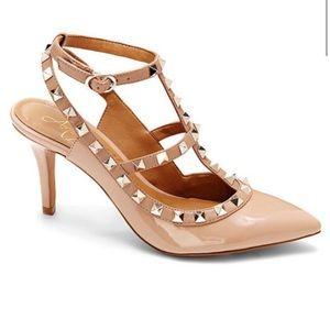 Arturo chiang gracen  pointy studded heels sz 9m